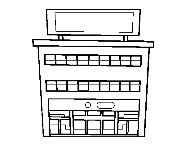Dibujo de Grandes almacenes para Colorear