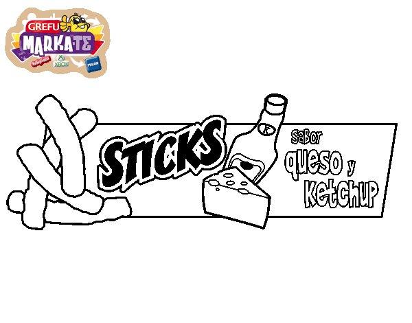 Dibujo de Grefusa sticks para Colorear
