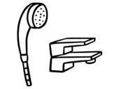 Dibujo de Grifaría de baño para colorear
