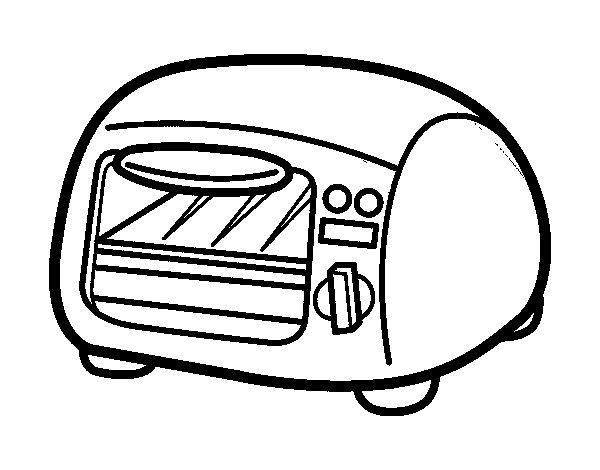 Dibujo de grill para colorear - Dibujos de cocina para pintar ...