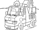 Dibujo de Grúa 1 para colorear