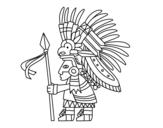 Dibujo de Guerrero azteca