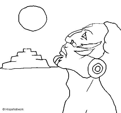 Dibujo de Guerrero orando para Colorear