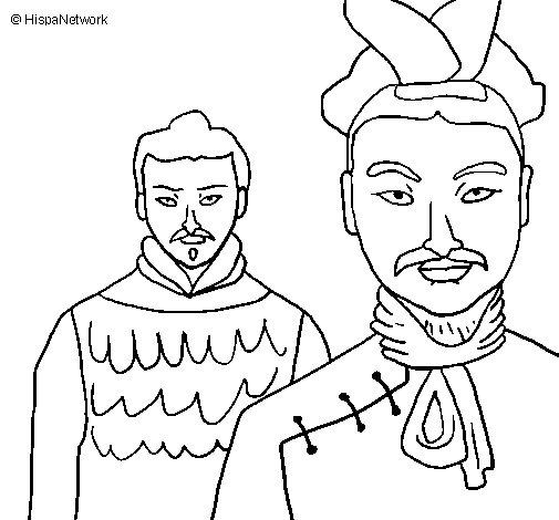 Dibujo de Guerreros chinos para Colorear