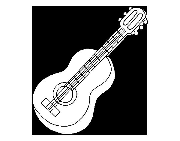 Dibujo de Guitarra clásica para Colorear