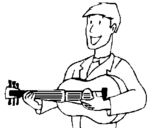 Dibujo de Guitarrista clásico