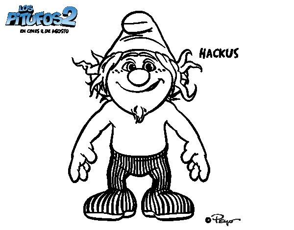 Dibujo de Hackus para Colorear