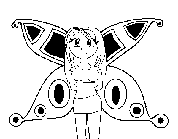 Dibujo de Hada anime para Colorear  Dibujosnet