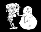 Dibujo de Hada de la nieve para colorear