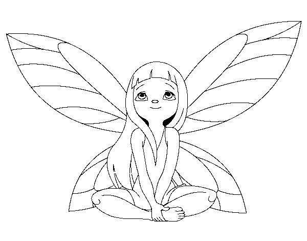 Dibujo de Hada fantstica para Colorear  Dibujosnet