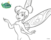 Dibujo de Hadas Disney - Campanilla primer Plano para colorear