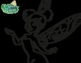 Dibujo de Hadas Disney - Campanilla primer Plano