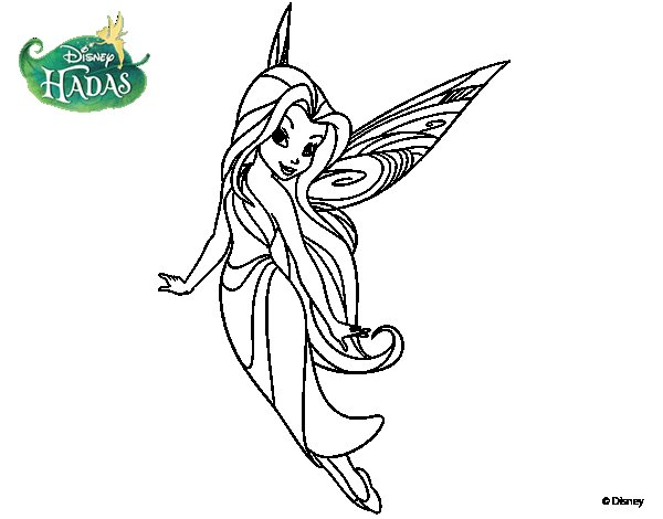 Dibujo de Hadas Disney - Silver para Colorear - Dibujos.net