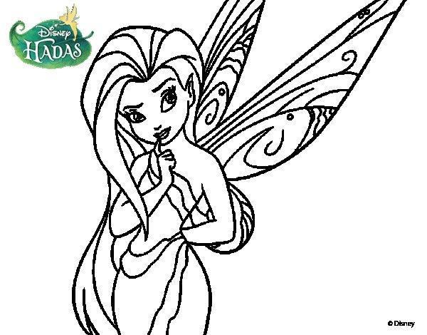 Dibujo de Hadas Disney - Silvermist para Colorear ...