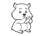 Dibujo de Hámster gordito para colorear