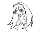 Dibujo de Hatsune Vocaloid para colorear