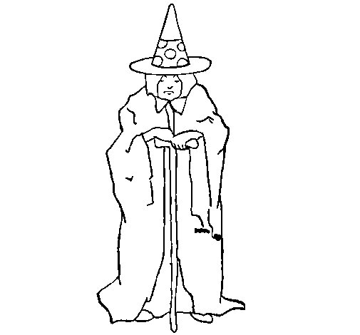 Dibujo de Hechicera misteriosa para Colorear