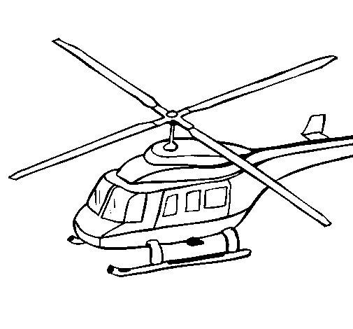 Dibujo de Helicóptero 3 para Colorear