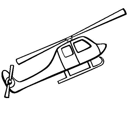 Dibujo de Helicóptero de juguete para Colorear