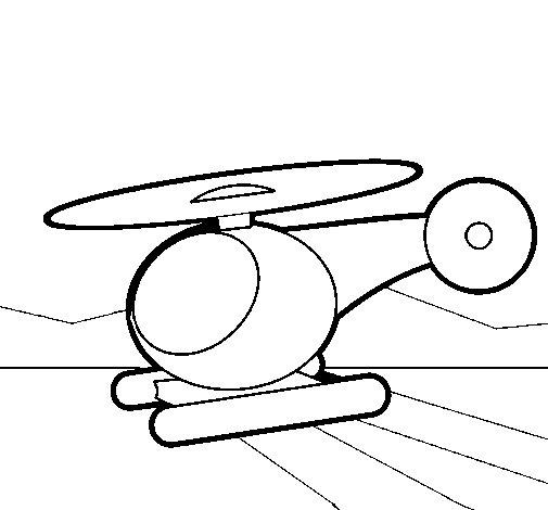 Dibujo de Helicóptero pequeño para Colorear