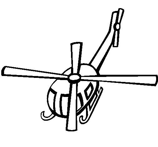 Dibujo de Helicóptero V para Colorear