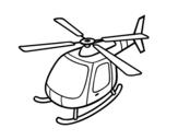 Dibujo de Helicóptero volando para colorear