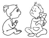 Dibujo de Hermanos para colorear