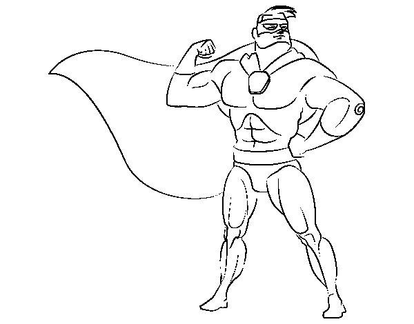 Dibujo de Héroe enmascarado para Colorear