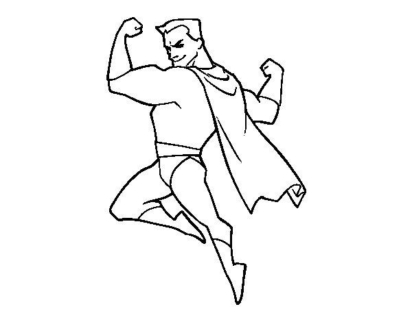 Dibujo de Héroe forzudo para Colorear