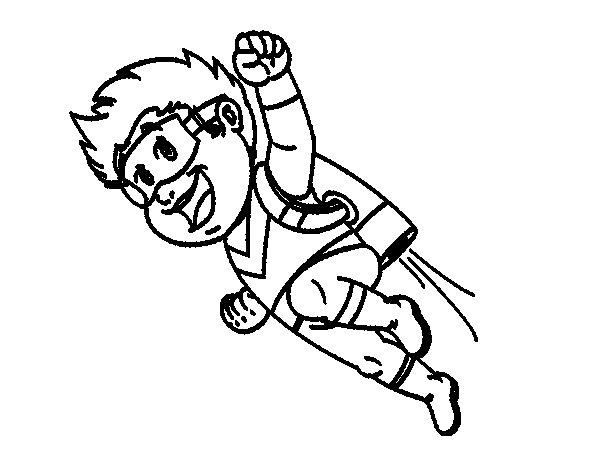 Dibujo de Héroe volando para Colorear