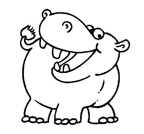 Dibujo de Hipoptamo para Colorear  Dibujosnet