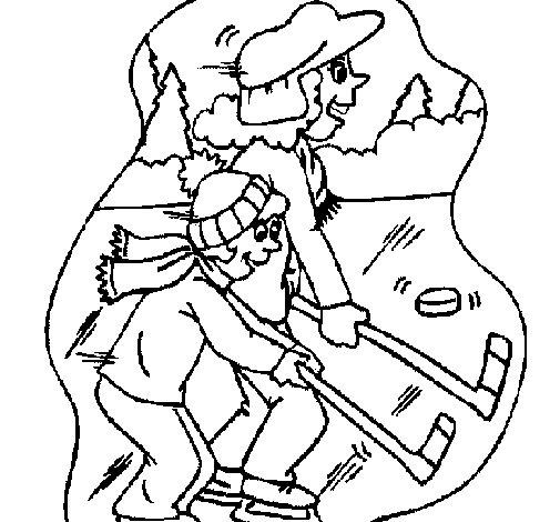 dibujo de hockey sobre hielo para colorear