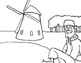 Dibujo de Holanda para colorear