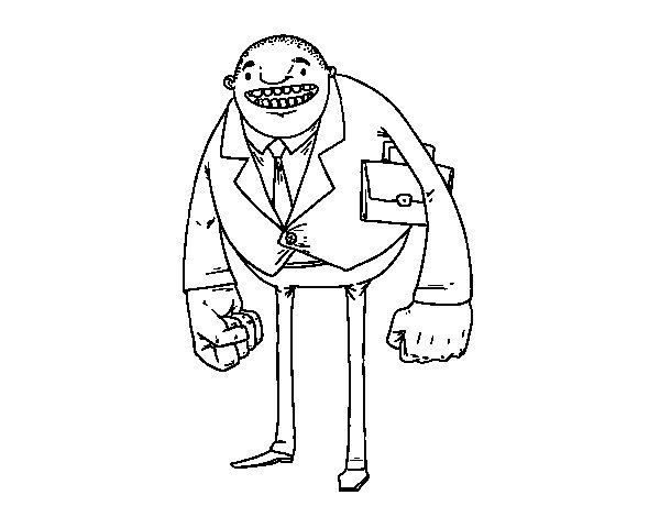 Dibujo de Hombre de puños grandes para Colorear
