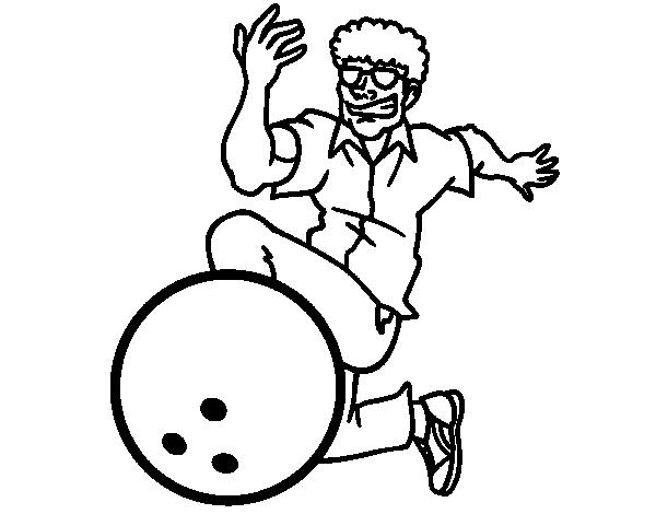 Dibujo de hombre jugando a los bolos para colorear - Bowling dessin ...
