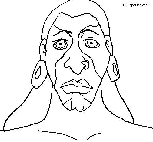 Dibujo de Hombre maya para Colorear