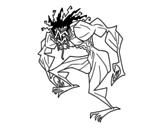 Dibujo de Hombre trol para colorear