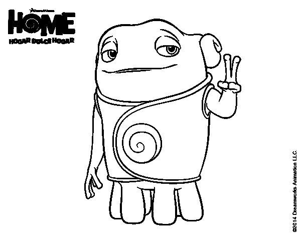 Dibujo de Home - Boov Oh para Colorear