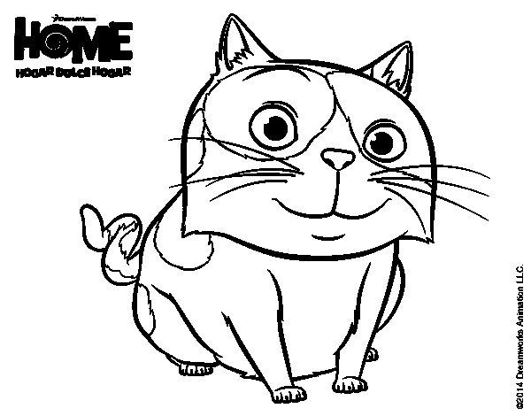 Dibujo de Home - Pig para Colorear
