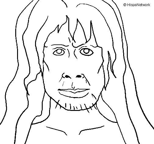 Dibujo de Homo Sapiens para Colorear