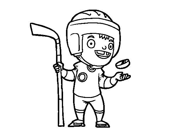 dibujo de hoquei sobre hielo para colorear