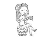 Dibujo de Hora del té