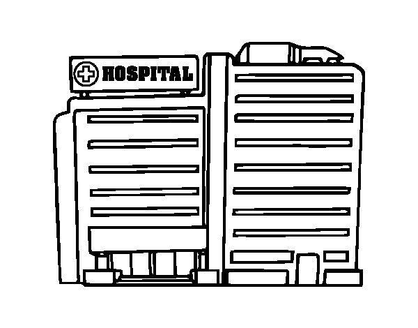 Dibujo de Hospital para Colorear