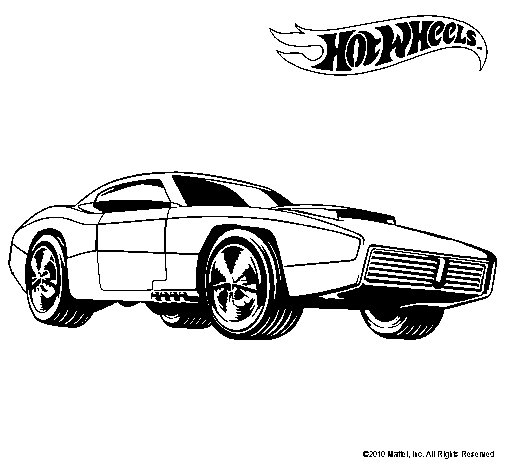 Dibujo de Hot Wheels 1 para Colorear