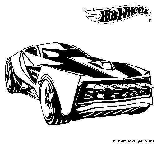Dibujo de Hot Wheels 12 para Colorear  Dibujosnet