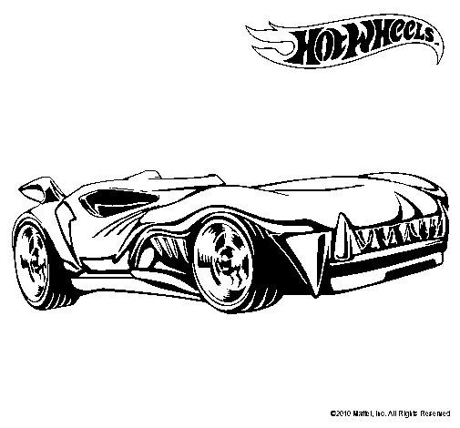 Dibujo de Hot Wheels 3 para Colorear