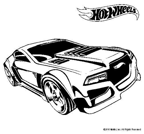 Dibujo de Hot Wheels 5 para Colorear