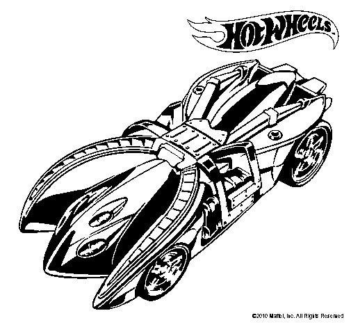 Dibujo de Hot Wheels 7 para Colorear  Dibujosnet