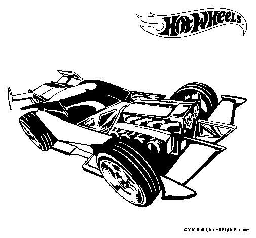 Dibujo de Hot Wheels 9 para Colorear  Dibujosnet