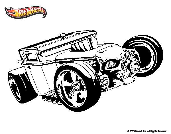 Dibujo de Hot Wheels Bone Shaker para Colorear